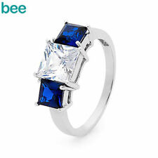White Gold Plated Sapphire Stone Fashion Jewellery