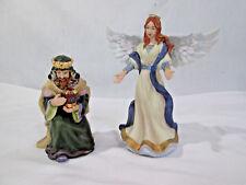 "Hawthorne Village ""Star of Hope"" Kincaid ""King Melchior & Heavenly Angel"" 2002"