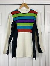 Obermeyer Womens Wool Blend Striped Color Block Ski Sweater Pullover Size Medium