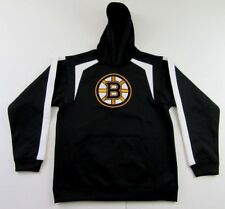 BOSTON BRUINS Embroidered LS Black Pullover Hoodie Sweatshirt Size XL