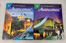 Avancemos Level 1A Level 1B set by McDougal Littell Hardcover spanish textbook