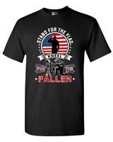 I Stand For The Flag Kneel For The Fallen USA Patriotic (A) DT Adult T-Shirt Tee