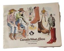 Vintage Cowboy Boot Catalogue Canada West Shoe