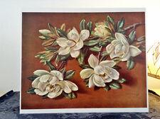 ORIGINAL RARE Tretchikoff Magnolia Flowers 1960s - Vintage Kitsch Art Print