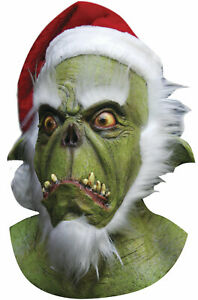 Brand New Christmas Green Santa Adult Full Mask