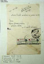 NEPAL 1968 RED CROSS PAIR ON TRISULI REGISTERED COVER-N45899