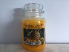 """Yankee Candle """"Pineapple Citrus"""" Lge Jar 16 Pour White Deerfield Label From USA"""
