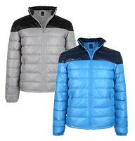 Blend New Mens Shiny Puffer Padded Jacket Sky Blue & Light Grey M L XL XXL Coat