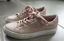 Designer The Greats Womens Pink Leather Sneakers Shoes Everyday Size 7 EUR 37