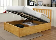 Wooden Ottoman Storage Bed Double Storage 4ft6 Bed Zoe Bed Frame