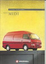 Vauxhall Midi mérito, Panel, Ventana & Estate Van Truck folleto de ventas 1994 1995