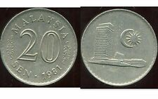 MALAISIE 20 sen 1981