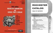 Rochester Carburetors 1960 - 1960 Rochester Carburetors and Service Parts Catalo