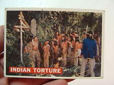 vintage1950's  DAVY CROCKETT CARD (orange)--INDIAN TORTURE 27