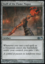MTG 2x STAFF OF THE FLAME MAGUS - BASTONE DEL MAGUS INFUOCATO - M14 - MAGIC