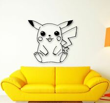 Wall Stickers Vinyl Decal Pokemon Pikachu Anime Kids Baby Room Nursery (ig1093)