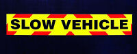 Slow Vehicle Fluorescent Magnetic Warning Sign