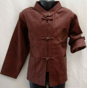 (NEW) Kid / Children Linen Kung Fu Jacket  Dragon Embroidery