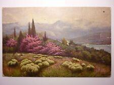 Antique Russian Postcard I. E. Kratschkovsky The Spring In Crimea