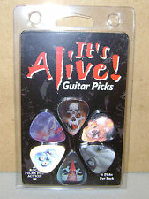 6 HOT PICKS Assorted Skull Motion It's ALIVE guitar picks Retail Pack