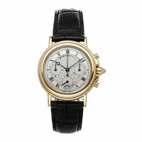 Breguet Classique Chronograph Yellow Gold Auto 38mm Strap Deployant Mens Watch