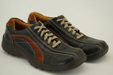 SKECHERS Lace Up Shoes Men Size 10.5 Dark Brown Leather 60305 A11