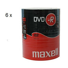 MAXELL DVD-R Blank Recordable Digital Disc DVDR 4.7GB 16x SPEED 120mins 100Pk x6