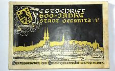 Festschrift 600 Jahre Oelsnitz Vogtland + 750 Jahre Oelsnitz Voigtsberg