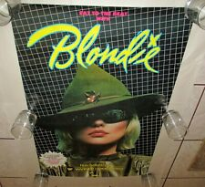 """Blondie Rare Warner Promo Poster 1979 Eat To The Beat Usa 23"""" x 35"""" Debbie Harry"""