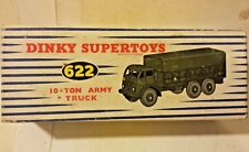 Dinky Supertoys 10 Ton Army Truck # 622 Mecanno Diecast 622 Truck Box