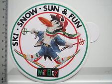 Aufkleber Sticker WitBoy - Kleidung Mode - Ski Snow Sun Fun (6774)
