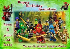 personalised birthday card lego ninjago daughter grandaughter son grandson c1
