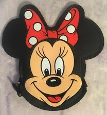 Minnie Mouse Coin Change Purse Disney Zip Zipper Disney Wallet Black Red Plastic