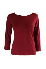 Calvin Klein Sleep Shirt Comfort Cotton 3/4 Sleeve Cranberry Size XS