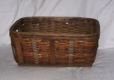 Antique W.VA. Caol Miners Clothing / Valuables Basket Metal Wood Reinforced A 87