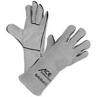 ACE SafeWeld lange Schweißer-Handschuhe Arbeitshandschuhe Lederhandschuhe