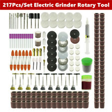 217Pcs Electric Grinder Rotary Tool Accessories Kit Mini Rotary Power Drill Part