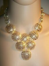 Gold plated necklace, earrings, bracelet, & ring set