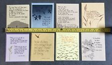 Vintage 1970's Blank Note Cards Thoughts Of Life Quotes Greeting Cards Envelopes