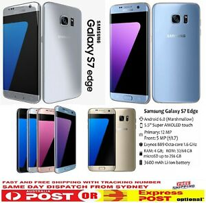 """Samsung Galaxy S7 Edge LTE 4G Unlocked Smartphone 32/64GB """"6 MONTHS WARRANTY"""""""