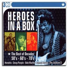 3 CD Box Heroes in a Box - Die größten Rock Legenden der 50'er 60'er 70'er - Neu