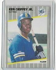 KEN GRIFFEY JR 1989 Fleer Baseball ROOKIE RC Card #548 - MARINERS (CK)