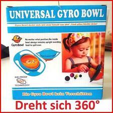 Snackschüssel Babyschüssel für Kinder Universal Gyro Bowl dreht sich um 360° NEU
