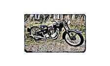 Ajs 16M Motorbike Sign Metal Retro Aged Aluminium Bike