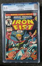 Marvel Premier #15 CGC 8.0, first app IRON FIST
