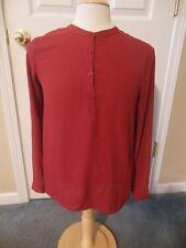 FOREVER 21 Women's BLOUSE Shirt Top size Medium Long Sleeve Red