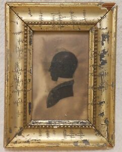 """Good 19th Century Cutwork Silhouette Of A Gent """"Joshua Moore New Hampshire"""""""
