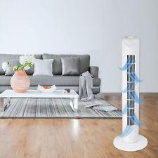 Turmventilator 82cm - Weiß - Extra Leise, Standventilator 45W, Säulen Ventilator