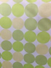 White Green Yellow Polka Dot Polyester Twill Fabric (60 in.) Sold By The Yard