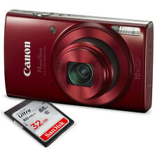 Canon PowerShot ELPH 190 IS Digital Camera (Red) with 10x Optical Zoom and Bu...